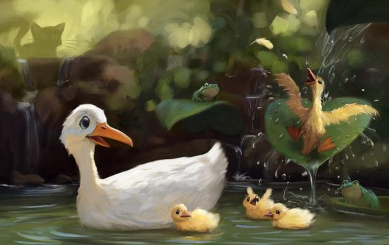 ducks by purrskill