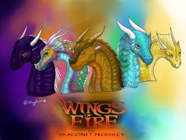 Wings Of Fire - The dragonets of destiny by xxSkyfrost