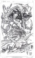 Witchblade by Marcio Abreu Inks by myself by kendiwan1987