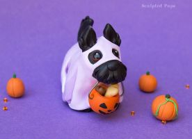 Spooky Scottish terrier sculpture by SculptedPups