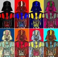 Darth Vader eight panel comic print pop art by TheGreatDevin