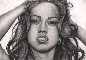 'Megan Fox' graphite drawing by Pen-Tacular-Artist