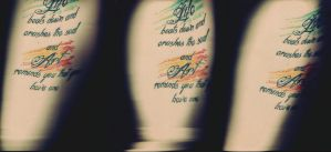 Tattoo Scan Triptych by colleenchiquita