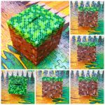 Minecraft grass block by HigurashiKarly