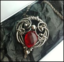 red quartz necklace by annie-jewelry
