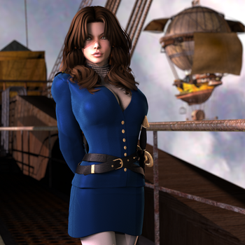 Airship Commander by babblingfaces