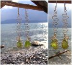 Green Waves Earring by LiuRokSilver