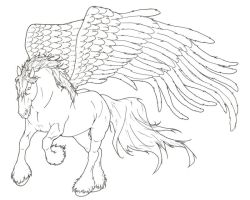 Pegasus Lineart by ReQuay