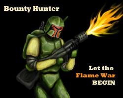 Bounty Hunter Let the Flame by Kooky-Crumbs