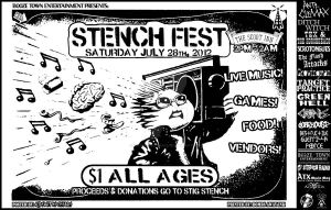 Stench Fest 2012 Benefit Poster by kidswithscissors