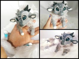 Clockwork Handmade Poseable dragon by KaypeaCreations
