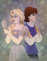 Young Derek and Odette (Swan Princess) by irina-bourry