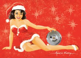 Christmas Pin Up2 by Aaron Kirby by AtomicKirby