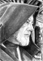 Obi-Wan Kenobi Sketch Card by khinson