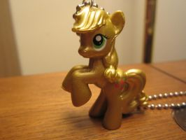 My Little Pony FIM Metallic Applejack Necklace by colbyjackchz