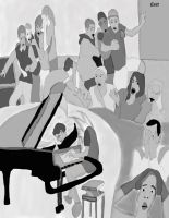 Eat The  pianist composer with Pen by daylover1313