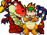 [Request] Bowser x Hooktail by Absolhunter251