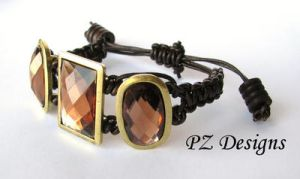 Macrame in Leather and Bling by PurlyZig