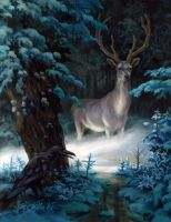 white stag by egilthompson