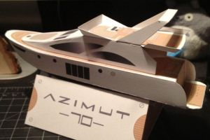 Azimut 70 Papercraft by cow41087