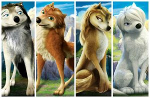 Alpha and omega -Kate,Humphrey, Lilly,Garth by Lilly-omega12