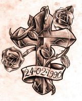 Cross and roses by WillemXSM