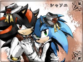 +SHADOW X SONIC+ by LeonStar123
