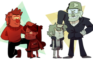 a loving family by wet-monsoon