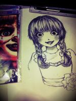 Annabelle drawing WIP by Szainx