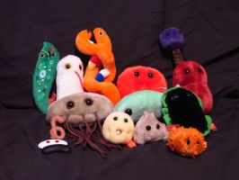 My microbe collection so far by Sorath-Rising