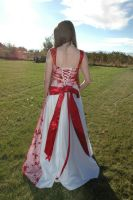 Red and White Dress 76 by Lynnwest-Stock