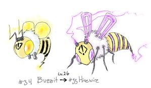 Fakemon: Electric Bee by Tyshea