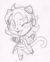Commission Sample - Nepeta 5 Dollar Sketch by Ka-Star