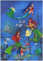 Four Mermaids by Beryl-Thanh