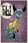 Schrute Lying Cat by spicypeanut