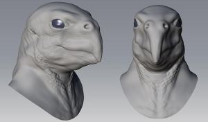 Parrot Thing WIP by goosezilla