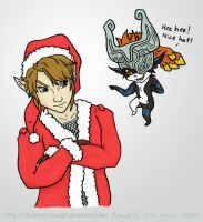 Midna and Link - Christmas 2012 by TheGreenDragonGirl