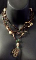 Shells and Feathers Necklace by MorganCrone