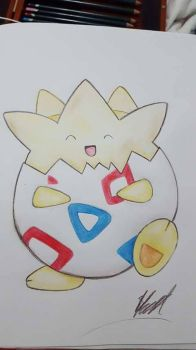 Togepi by Sugarpinklickalips
