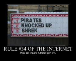 Poster - RULE #34 OF THE INTERNET by E-n-S