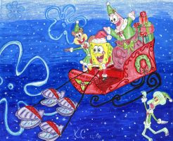 Spongy Santa is Coming to Town by Spongefifi