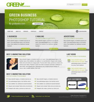 Green Business Layout by Grafpedia