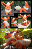 Mini Flareon Plush by racingwolf