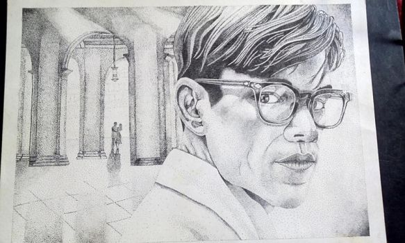 Mr Ripley stippling by art-devi