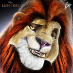 Adult Simba Portrait (COMMISSION)- The Lion King by Andersiano