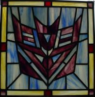 Decepticon Staine Glass by AutobotWonko