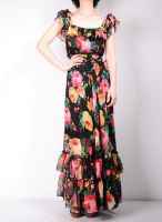 Black Floral Maxi Dress 1 by yystudio