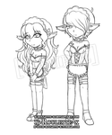 Chibi-lines by x-Roulette-x