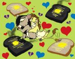 Buttered Toast by peanutchan