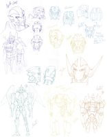 TFBW - Transformers: X character sketches by pika